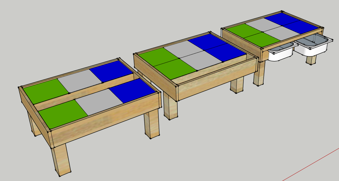 The First Option Was A Table Similar To Ours In That It Had A U0027troughu0027 Set  Into The Middle Where Legos Could Be Stored And Accessed From All Sides.